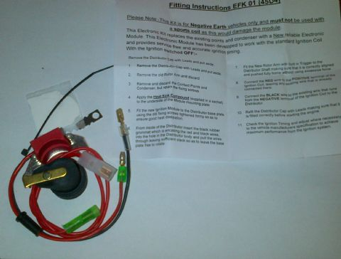 MGB Electronic Ignition Kit - 45D Lucas Distributor